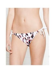 Paul Smith Painterly Camo Print Skinny Tie Bikini Bottom White