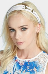 L. Erickson 'Bit' Headband White White Denim