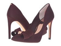 Ted Baker Ichlibi Burgundy Satin High Heels