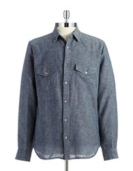 7 For All Mankind Solid Sportshirt Blue