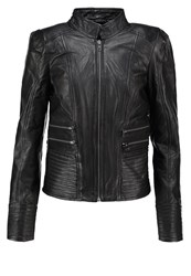 Y.A.S Yas Yasmonta Leather Jacket Black
