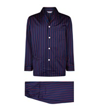 Derek Rose Wellington Striped Pyjama Set Male Blue