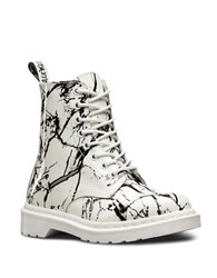 Dr. Martens Pascal Patent Leather Boots White