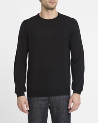 Ben Sherman Black Merino Round Neck Sweater