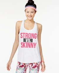 Material Girl Active Juniors' Graphic Tank Top With Headband Only At Macy's Bright White