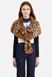 Anna Sui For Opening Ceremony Fur Shawl Leopard