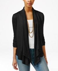 American Living Draped Cardigan Only At Macy's Black