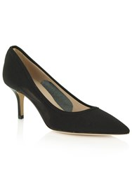 Daniel Garland Mesh Low Heel Court Shoes Black