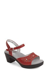 Women's Alegria By Pg Lite 'Reese' Cutout Sandal Red Butter Leather
