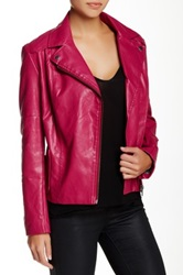 Kut From The Kloth Avery Quilted Faux Leather Moto Jacket Pink