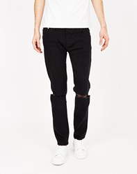 The Idle Man Ripped Skinny Jean Black