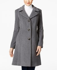 Anne Klein Wool Cashmere Blend Walker Coat Only At Macy's Light Grey