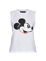 Markus Lupfer Hetty Sequinned Mickey T Shirt