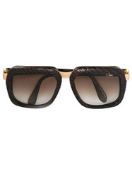 Cazal Square Frame Gradient Sunglasses Brown