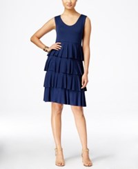 Styleandco. Style And Co. Sleeveless Tiered Dress Only At Macy's Ink