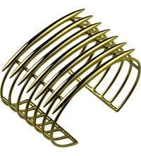 Shaun Leane Grid Silver And Rose Gold Vermeil Quill Cuff