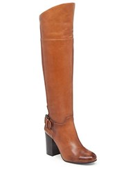 Vince Camuto Sidney Leather Riding Boots Cognac