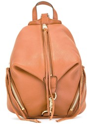 Rebecca Minkoff Zipped Backpack Nude And Neutrals