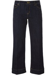 Michael Michael Kors Straight Leg Cropped Jeans Blue
