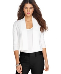 Calvin Klein Open Front Three Quarter Sleeve Cardigan White