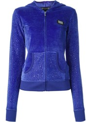 Philipp Plein 'Skull Nation' Hoodie Blue