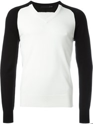 Alexander Mcqueen V Neck Sweater White