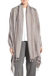 Eileen Fisher Women's Linen And Cotton Blanket Stripe Shawl