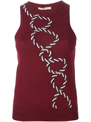 Christopher Kane Rope Embroidered Tank Top