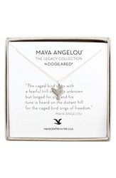 Dogeared Women's 'Legacy Collection The Caged Bird Sings' Pendant Necklace Silver