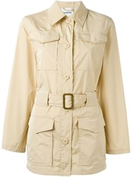 Aspesi Single Breasted Trench Coat Nude And Neutrals