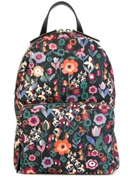 Red Valentino Floral Print Backpack Multicolour