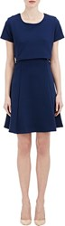 Barneys New York Cutout Dress Blue