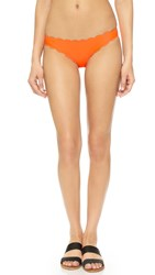 Pilyq Scallop Bikini Bottoms Orange