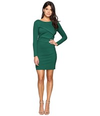 Adelyn Rae Long Sleeve Fitted Dress Green Women's Dress