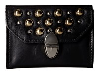 The Kooples Leather And Studs Purse Black Wallet Handbags