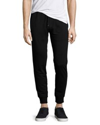 Michael Kors Faux Leather Trim Jogger Pants Black
