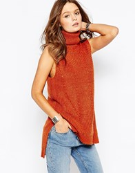 New Look Roll Neck Sleeveless Tunic Cheshunt