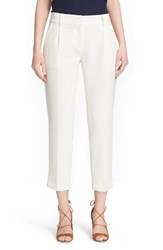 Women's Milly 'Nicole' Stretch Woven Crop Pants