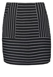 New Look Aline Mini Skirt Black Pattern Grey