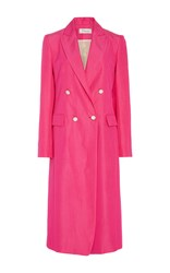 Temperley London Pomegranate Irie Double Breasted Coat Pink