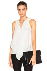 Derek Lam 10 Crosby Handkerchief Top In White