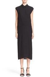 Alexander Wang Women's T By Stripe Rayon And Silk Sleeveless Wrap Dress