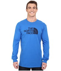 The North Face Long Sleeve Half Dome Tee Bomber Blue Cosmic Blue Men's T Shirt