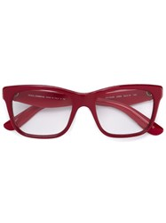 Dolce And Gabbana Floral Arm Glasses Red