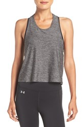 Under Armour Women's 'Swing' Logo Racerback Tank Carbon Heather Gray Area