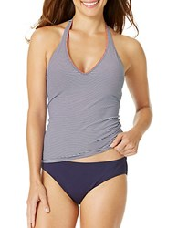 Anne Cole Baby Striped Halter Tankini Navy