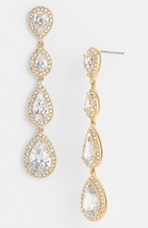 Nadri Linear Earrings Gold
