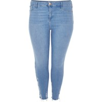 River Island Womens Ri Plus Light Blue Wash Molly Jeggings