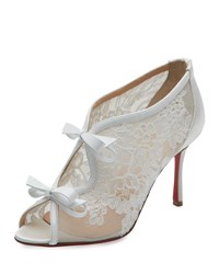 Christian Louboutin Empira Lace Red Sole Bootie Version Latte