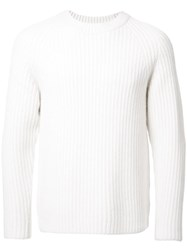H Beauty And Youth Crew Neck Jumper White